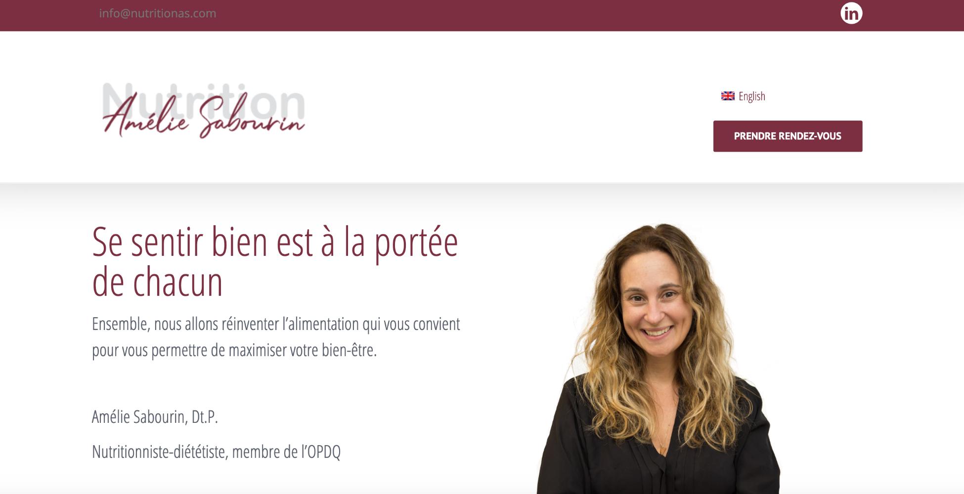 Nutrition Amélie Sabourin